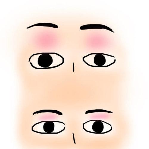 眉と目の間